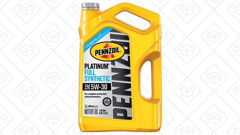 Penzoil Five Quarts Synthetic Oil, $8 after $10 rebate