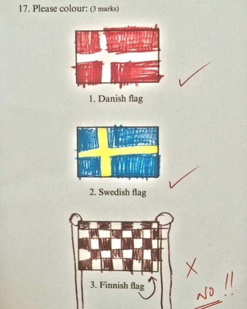 """Illustration for article titled """"And I really thought that's Finland's flag!"""""""