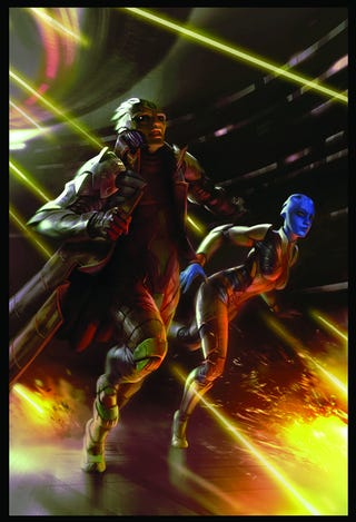 """Illustration for article titled Exclusive Peek At Liara T'soni In """"Mass Effect: Redemption"""" Comic"""