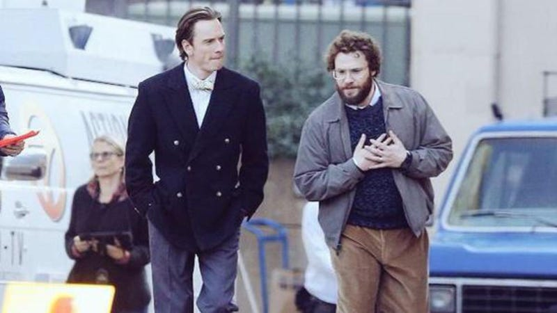 Illustration for article titled Your First Glimpse of Fassbender and Rogen as Jobs and Wozniak