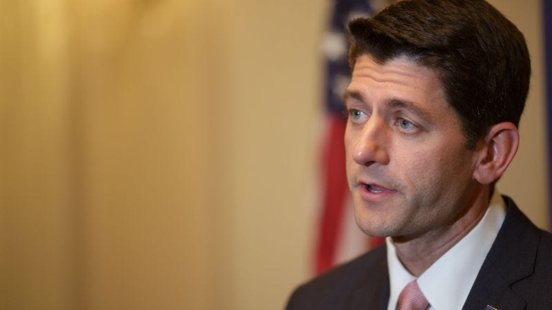Illustration for article titled Paul Ryan Awaiting SoulCycle Instructor's Approval Before Accepting Speaker Role