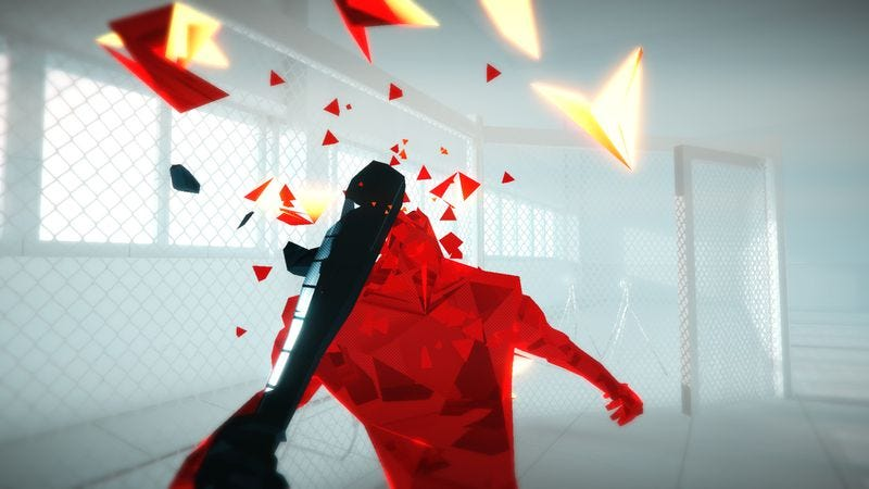 Illustration for article titled Superhot emulates Hollywood fight scenes by letting you make your own