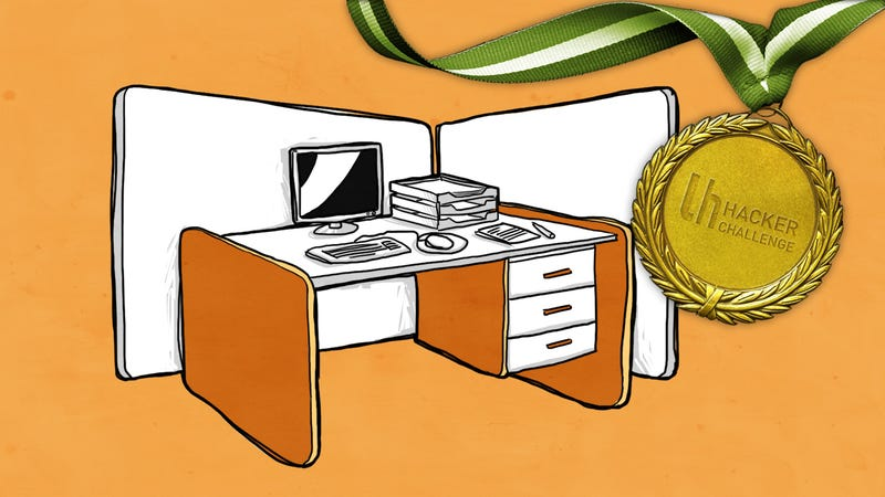 Illustration for article titled Hacker Challenge: Share Your Best Space-Saving Office Hack
