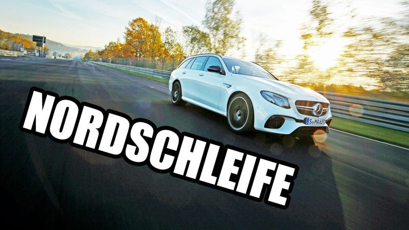 Illustration for article titled Watch The Mercedes AMG E63 S Set A Nurburgring Lap Record For The Fastest Wagon