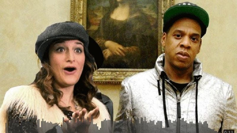 Illustration for article titled Jay Z and Mona-Lisa Saperstein, together at last