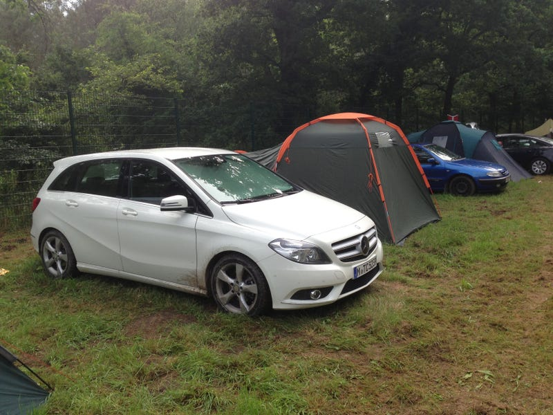 Camping at the 2013 24 hours of Le Mans in the Benz.