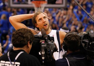 Illustration for article titled Dirk Nowitzki Is Probably The Only White NBA Player That Two-Thirds Of The Nation Can't Recognize By Name