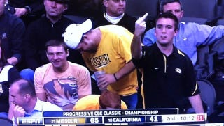 Illustration for article titled This Is How A Mizzou Fan Celebrates A 24-Point Lead