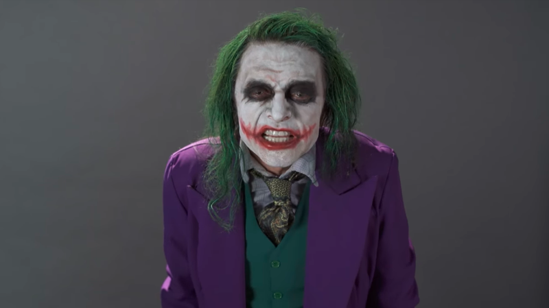 Illustration for article titled Tommy Wiseau's Joker audition tape is absolutely, unintentionally terrifying