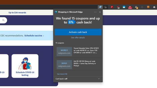 How to Turn Off Edge Chromium's Shopping Notifications