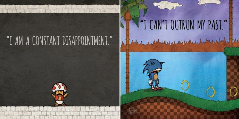 Illustration for article titled Cheer Yourself Up With These Depressed Video Game Heroes