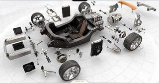 Illustration for article titled McLaren MP4-12C: Exploded