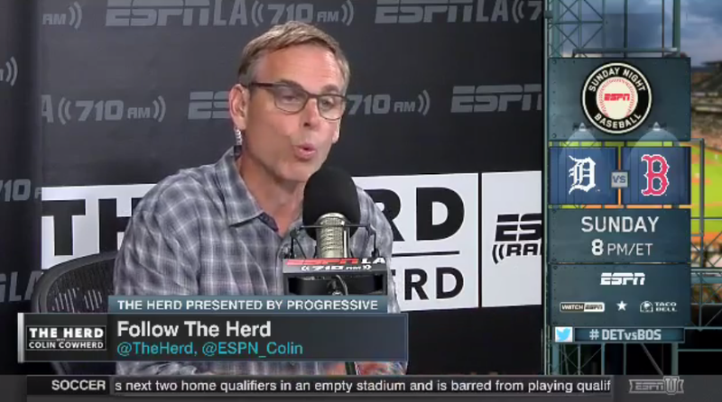 Illustration for article titled Colin Cowherd Is Mad We Didn't Run His Full Racist Musings, So Here