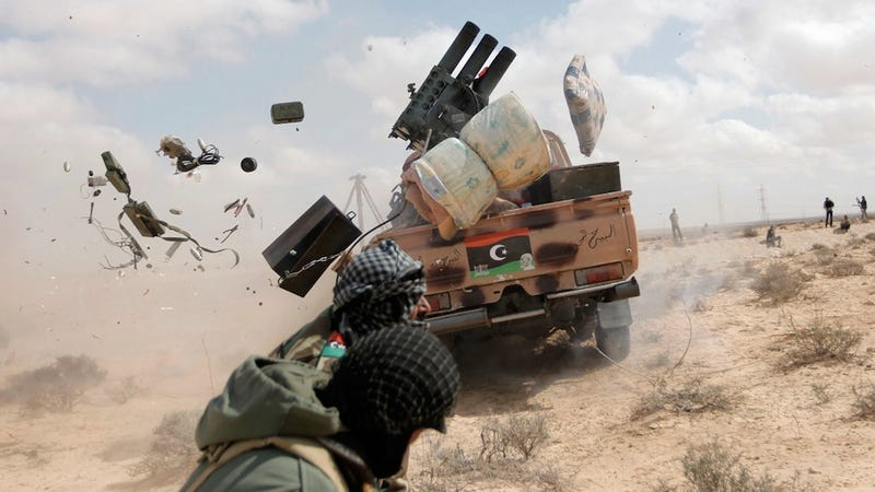 Illustration for article titled This Is What Happens When Your Improvised Missile Truck Misfires