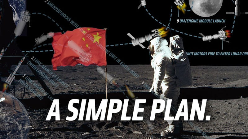 Illustration for article titled Here's How China Could Land People On The Moon By 2020