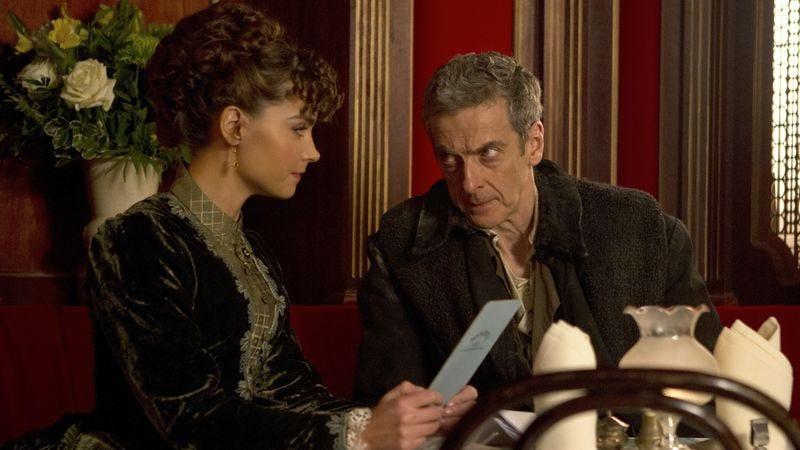 Jenna Coleman (left), Peter Capaldi (BBC)
