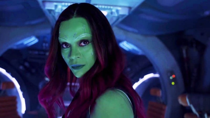 Illustration for article titled Zoe Saldana Shares Video Showing How Long It Takes to Get Into Gamora Makeup