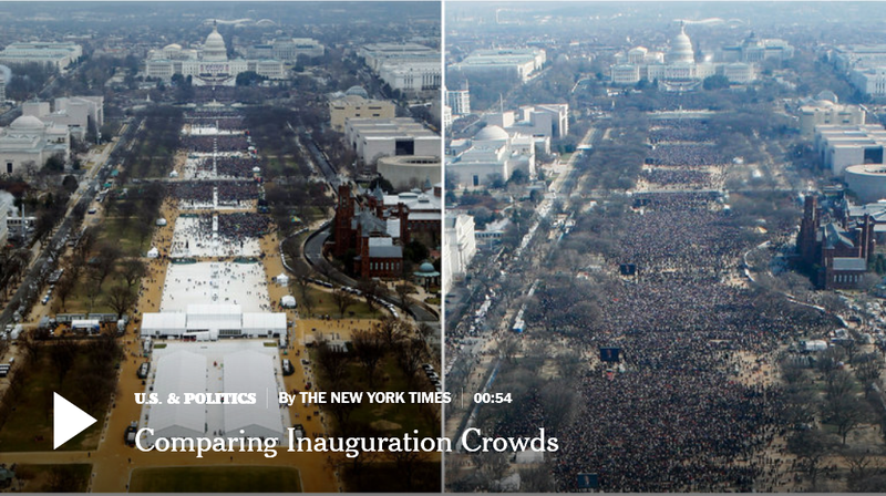 Illustration for article titled Dishonest Press Photoshops Inauguration Turnout