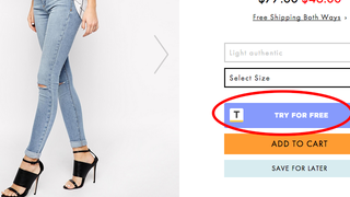 """Illustration for article titled """"Try"""" Lets You Try On Clothes Before Buying Them Online"""
