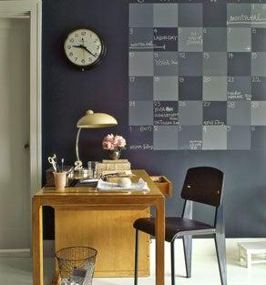 Illustration for article titled DIY paint-on chalkboard calendar