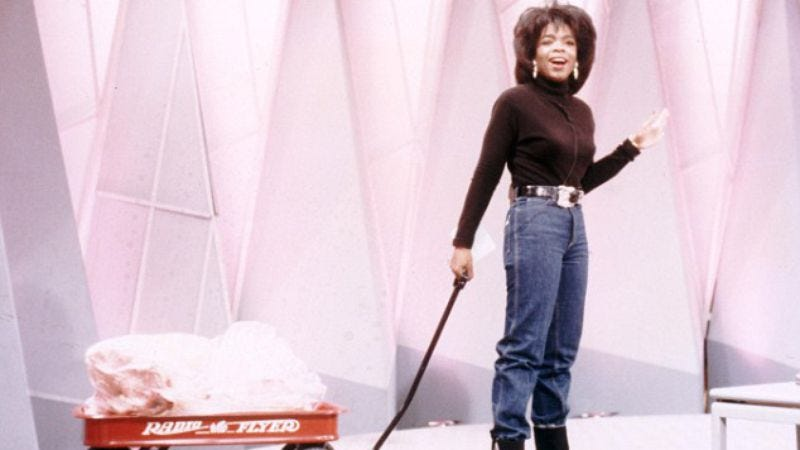 "Oprah and her famous 1996 ""fat wagon"""
