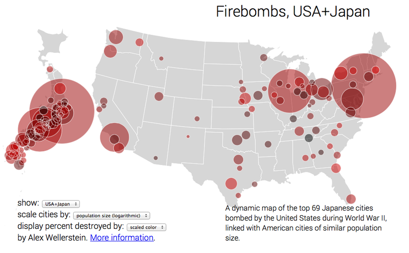 A Map Of How The WWII Bombing Of Japan Would Have Impacted The US - Japan us map