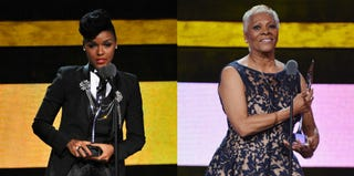 Janelle Monáe (D. Dipasupil/Getty Images Entertainment); Dionne Warwick (Bryan Bedder/Getty Images Entertainment)