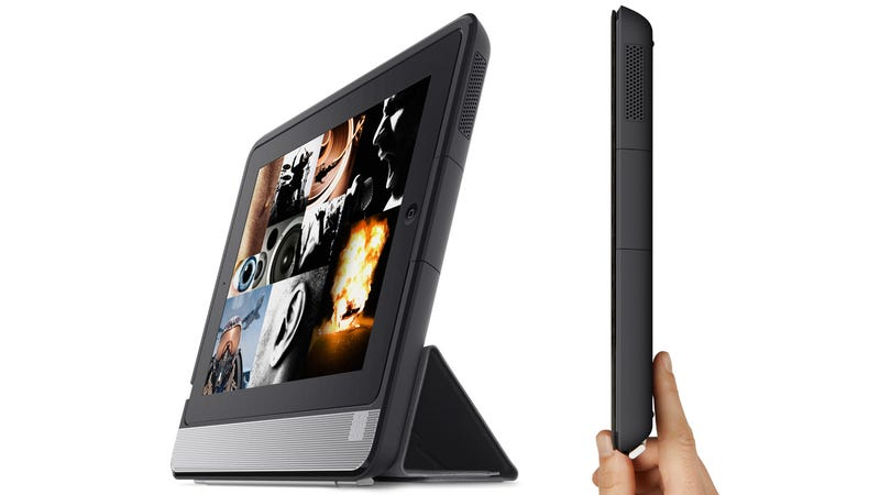 Illustration for article titled Belkin's Thunderstorm Turns Your Now Bulky iPad Into a Handheld Home Theater
