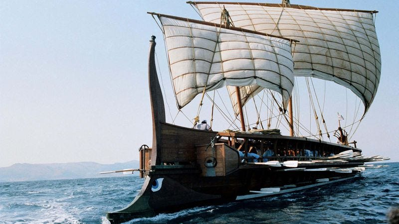 The HS Olympias, a reconstructed Greek trireme. (Photo: Greek Armed Forces)