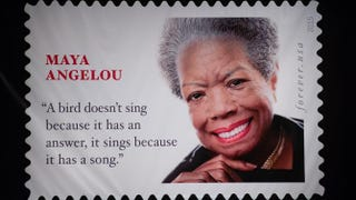 The Maya Angelou Forever Stamp unveiled April 7, 2015, at a ceremony at the Warner Theater in Washington, D.C.NICHOLAS KAMM/Getty Images