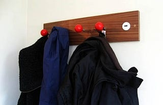 Illustration for article titled Joystick Coat Hooks Are a Playful Way to Keep Clothes Off the Floor