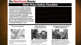 Illustration for article titled Heat Wave Safety Checklist from the Red Cross