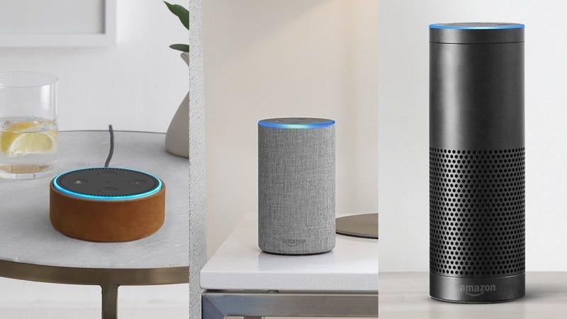 Refurb Amazon Echo Dot | $35 | AmazonRefurb Amazon Tap | $70 | AmazonRefurb Amazon Echo | $75 | AmazonRefurb Amazon Echo Plus | $110 | Amazon