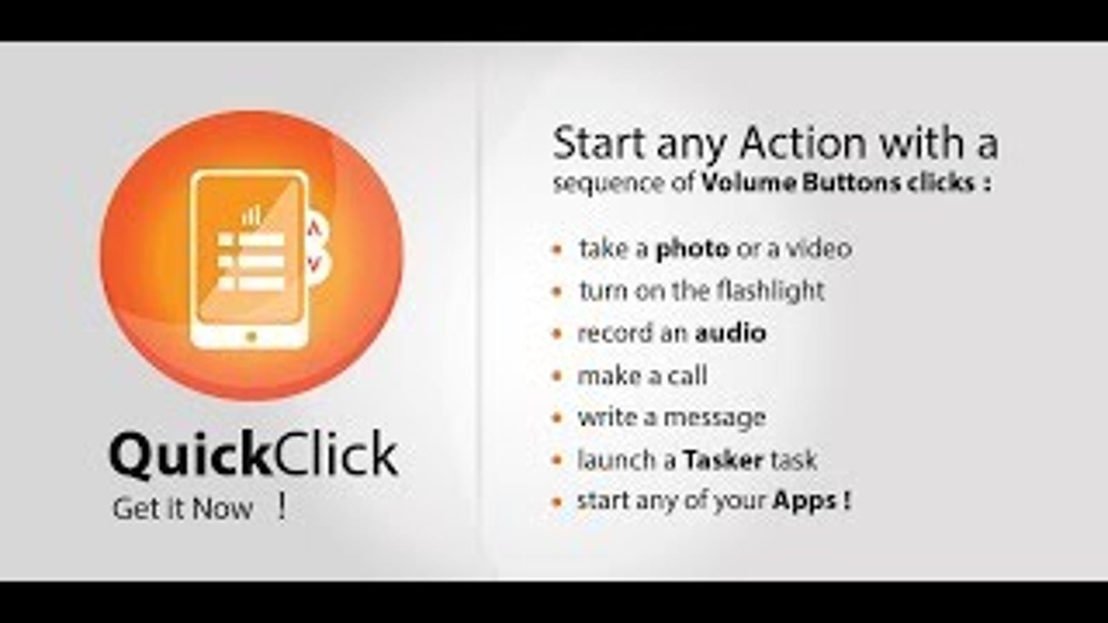 QuickClick Customizes Volume Button Actions, No Root Required