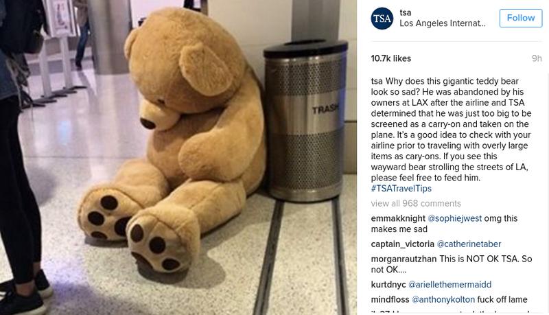 TSA Confiscates Huge Teddy Bear at LAX