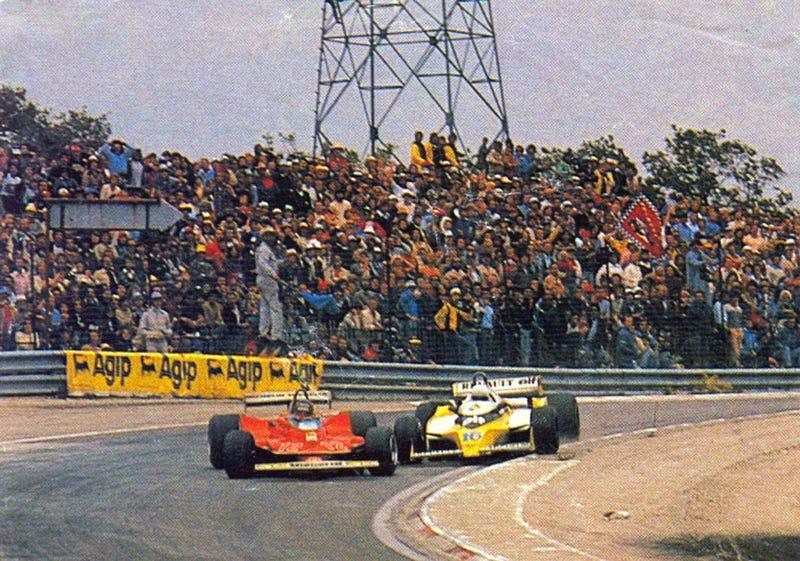 Villeneuve vs Arnoux, French GP, 1979. Photo from here.