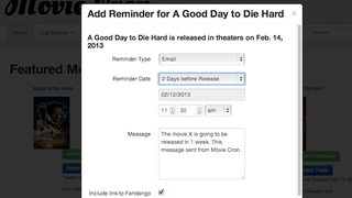 Illustration for article titled Movie Cron Plays Film Trailers, Notifies You by Text or Email Before Premiere Day