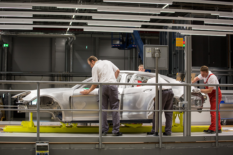 Porsche Panamera factory, photo via Porsche