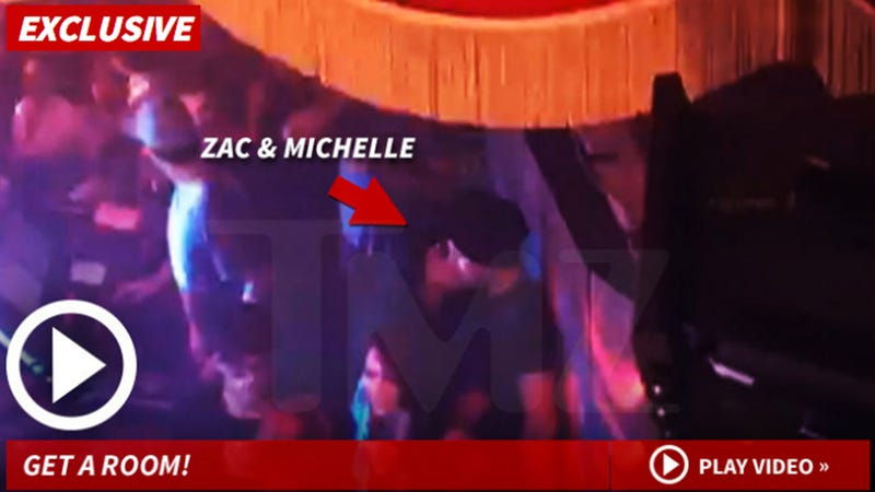 Illustration for article titled Zac Efron and Michelle Rodriguez Make Out to the Tender Strains of EDM
