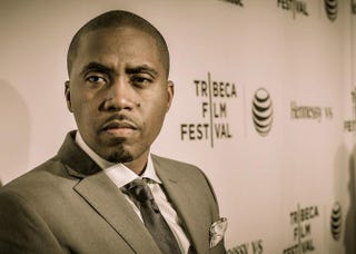 Nas attends the Time Is Illmaticopening-night premiere during the 2014 Tribeca Film Festival at the Beacon Theatre April 16, 2014, in New York City. Andrew H. Walker