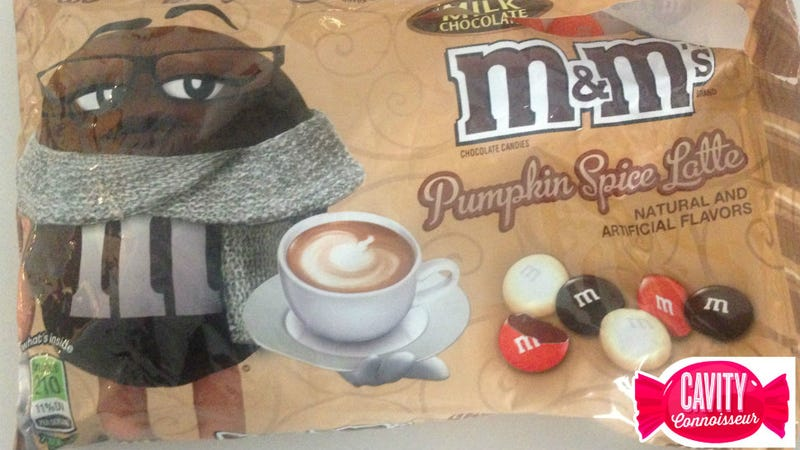 Illustration for article titled Hell Candy Face-Off: Pumpkin Spice Latte M&Ms Versus the Dreaded Dutch Ficorice