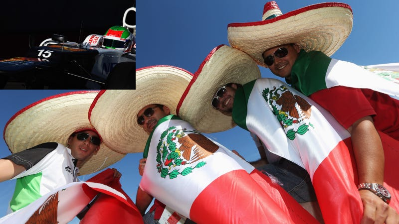 """Illustration for article titled In Austin, F1 Fans Swept Up In """"Checomania"""" For Mexico's Sergio Perez"""