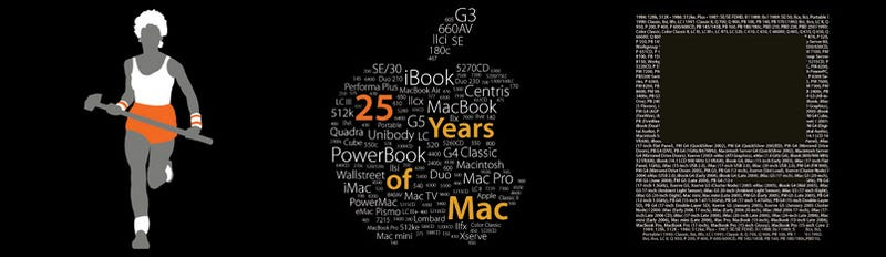 Illustration for article titled 25 Years of Mac Commemorative Shirts For $5.25 While Supplies Last