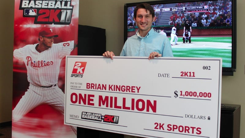 Illustration for article titled This Gaming Geek Shall Inherit MLB 2K11's Million-Dollar Prize