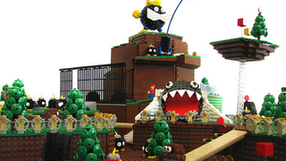 Illustration for article titled Super Mario 64's Iconic First Stage In LEGO Form