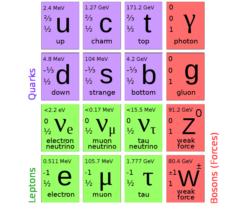 Illustration for article titled The Ultimate Field Guide to Subatomic Particles: Elementary Particles Cheat Sheet