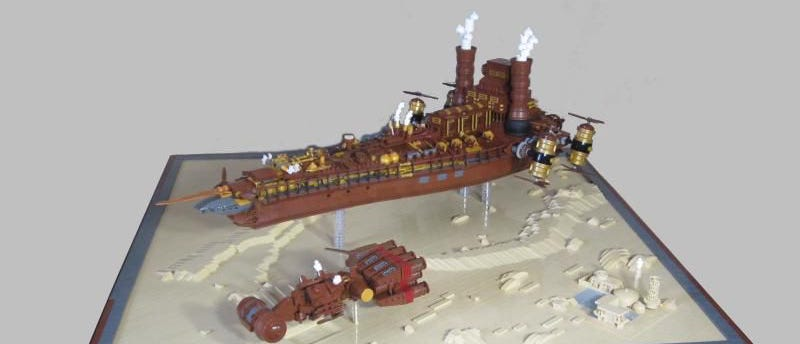 Illustration for article titled This Steampunk-themed Lego 'Star Wars' Imperial Destroyer is mind-blowing