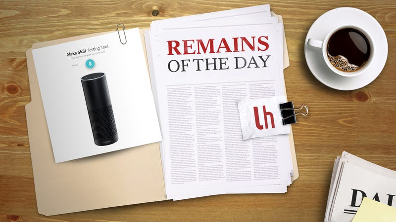 Illustration for article titled Remains of the Day: Talk to Amazon's Alexa in Your Browser with Echosim.io