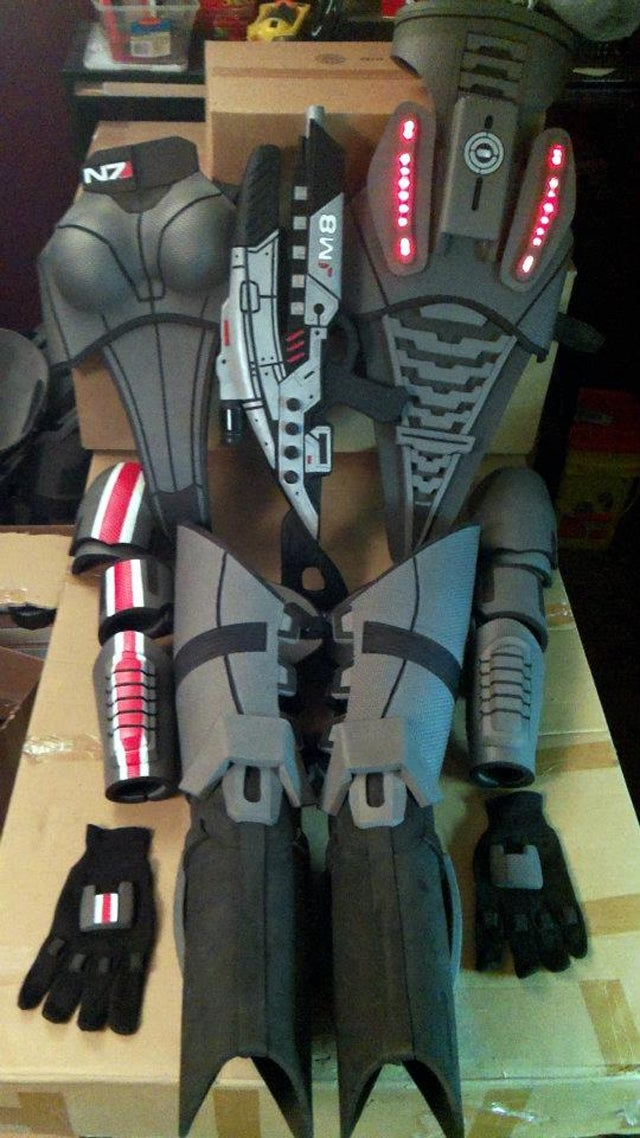 mass effect 3 n7 armor template - this custom made mass effect armor is impressively