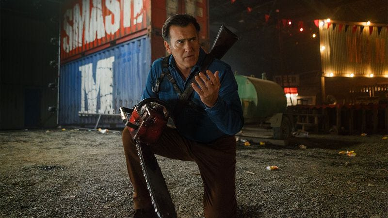 Illustration for article titled Ash Vs. Evil Dead drives a little too fast Beyond Thunderdome